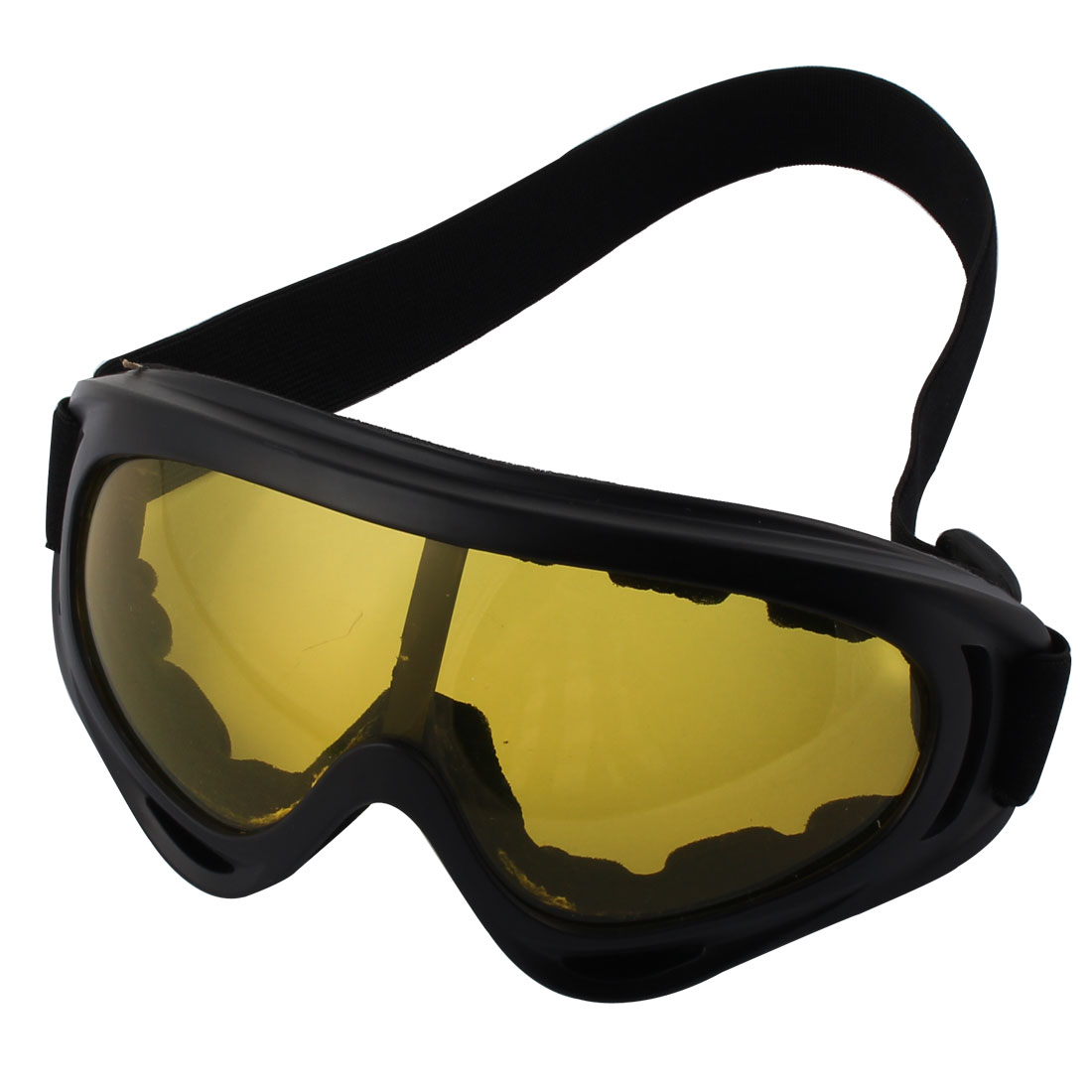 Outdoor Skiing Plastic Frame Anti-Snow Chrome Eye Protector Tinted Lens Ski Eyeglass