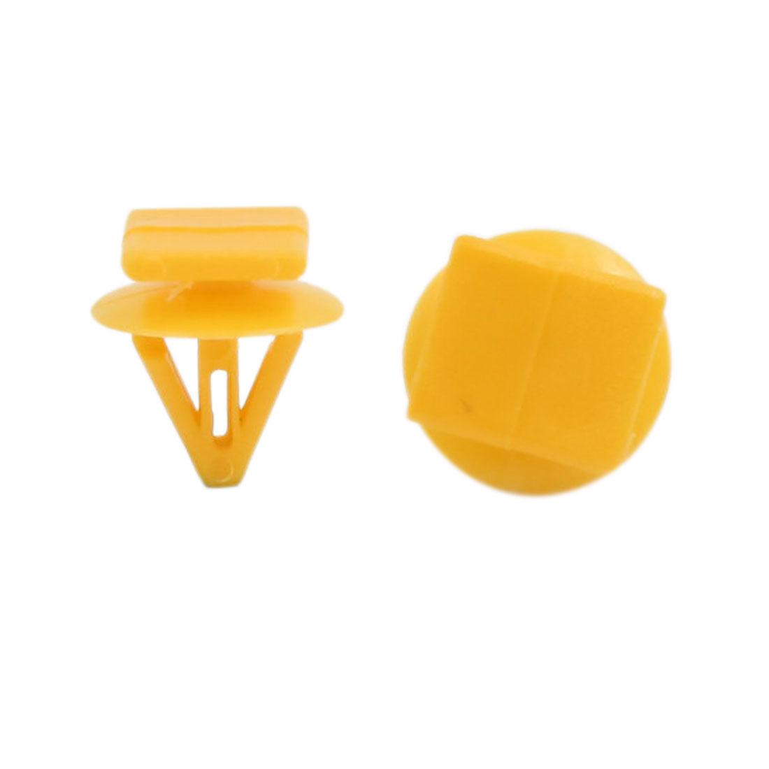 500 Pcs Yellow Car Door Plastic Rivet Trim Fastener Moulding Clips for Hyundai