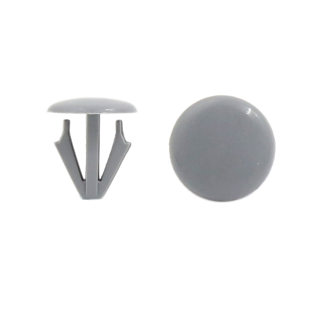 500PCS 15mm Hole 17.5mm Head Gray Car Door Bumper Trim Fasteners for Honda