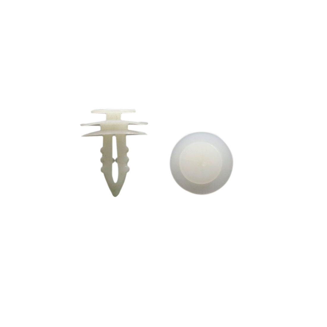 200 Pcs White Plastic Rivet Trim Fastener Moulding Clips 8mm x 19mm Fits Peugeot