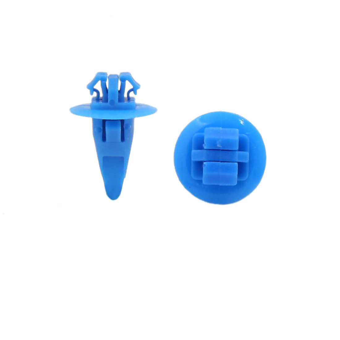11mm x 17mm Blue Plastic Rivets Car Bumper Fender Push Clips 200 Pcs for Toyota