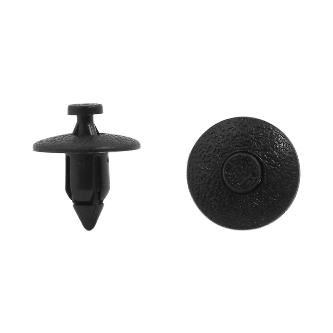 Car Bumper Fender 8mm Hole Black Plastic Rivets Fasteners 200pcs Fits for Toyota