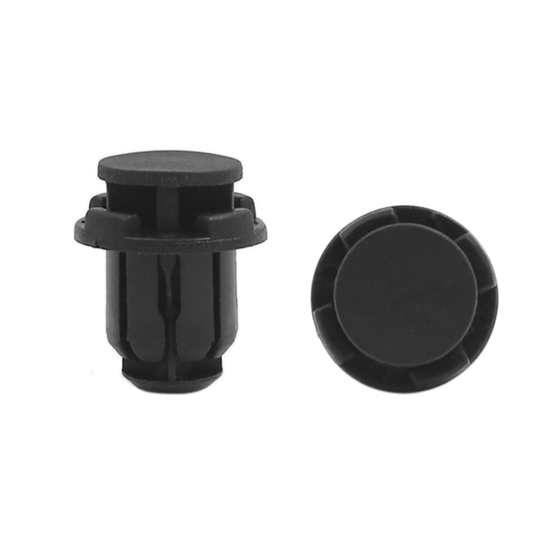 100 Pcs Black Plastic Splash Guard Fastener Mat Clips 14mm x 13mm x 21mm