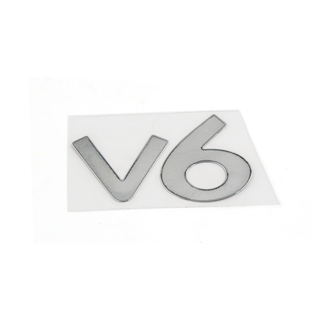 V6 Shaped Metal Adhesive Sticker Graphic Decal Adorn for Car Wondow Door
