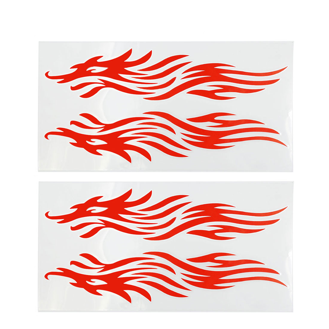 2Pcs Red Wolf Pattern Reflective Motorcycle Auto Truck Car Sticker Decal