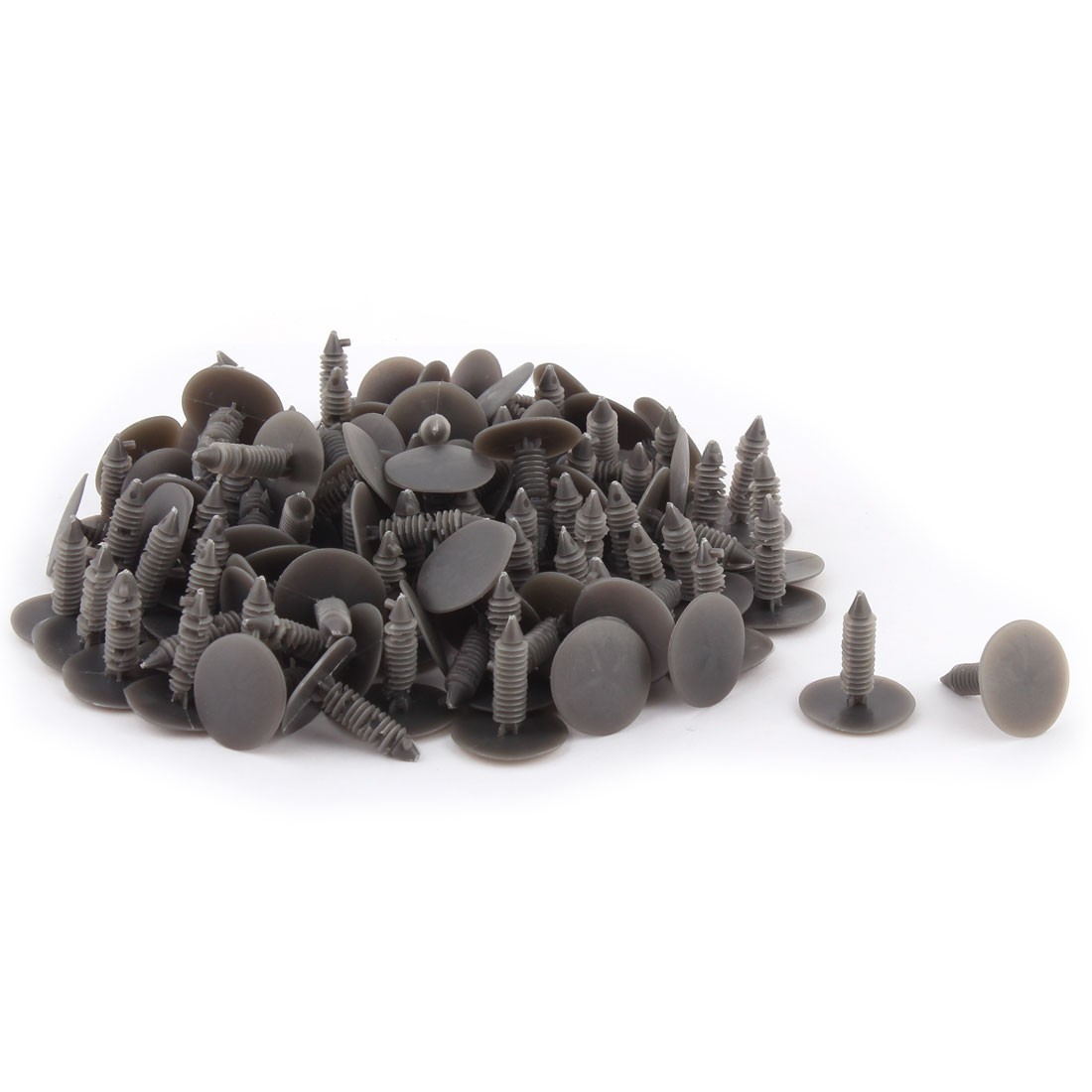 Car Plastic Push Type Fastener Bumper Clip Clamp Shield Retainer Rivets Gray 100pcs