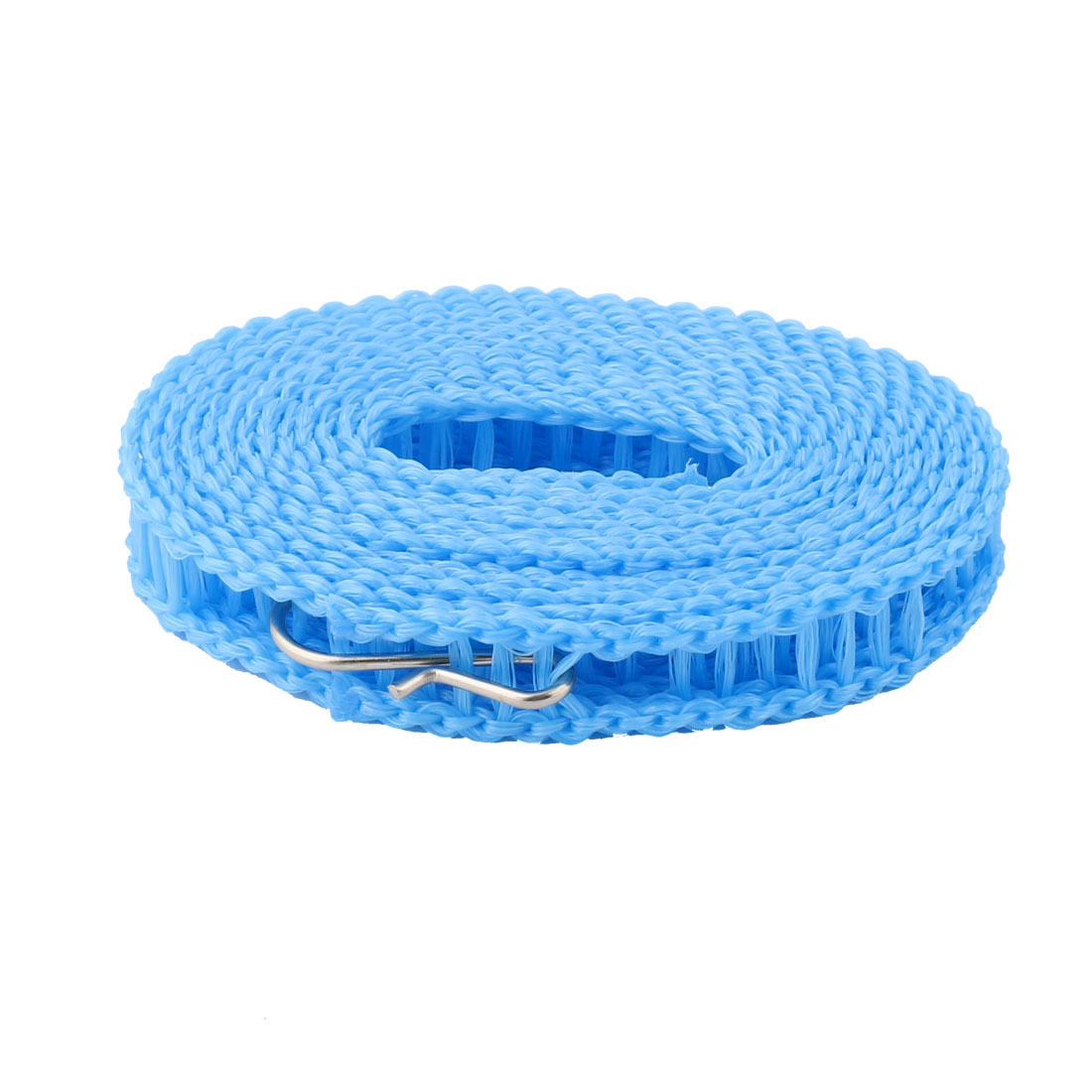 Outdoor Camping Laundry Drying Nylon Adjustable Windproof Clothesline Clothes Rope Hook Blue