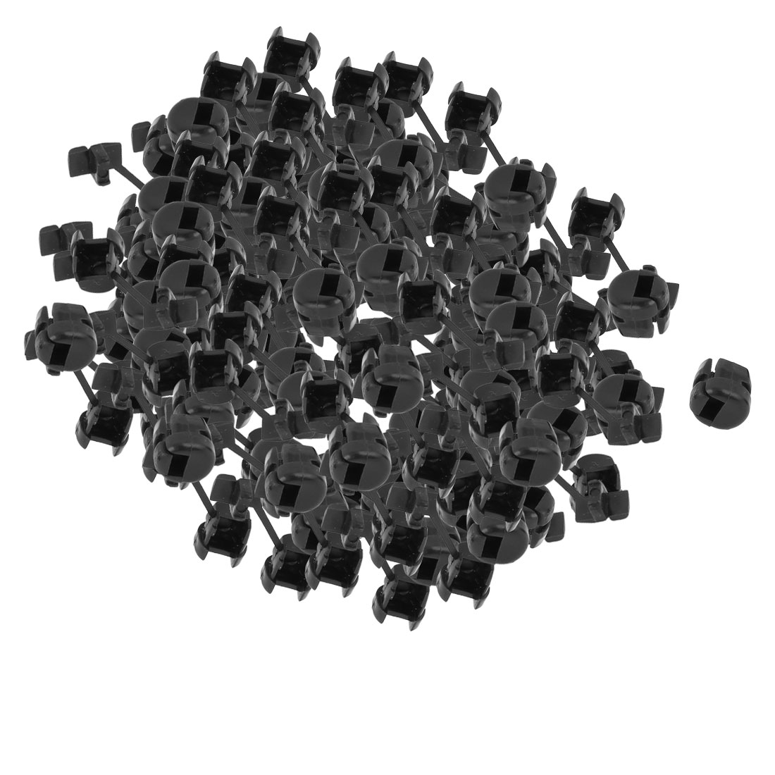 300Pcs HDB-2P-4 Flat Cable Wire Strain Relief Bush Grommet 10.5mm Length