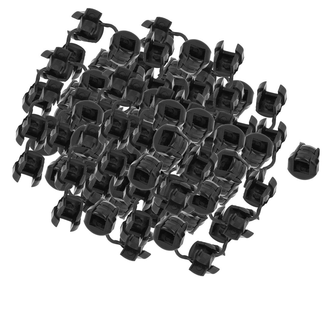 150 Pcs Flat Cable Wire Strain Relief Bush Grommet 15mm Long Black