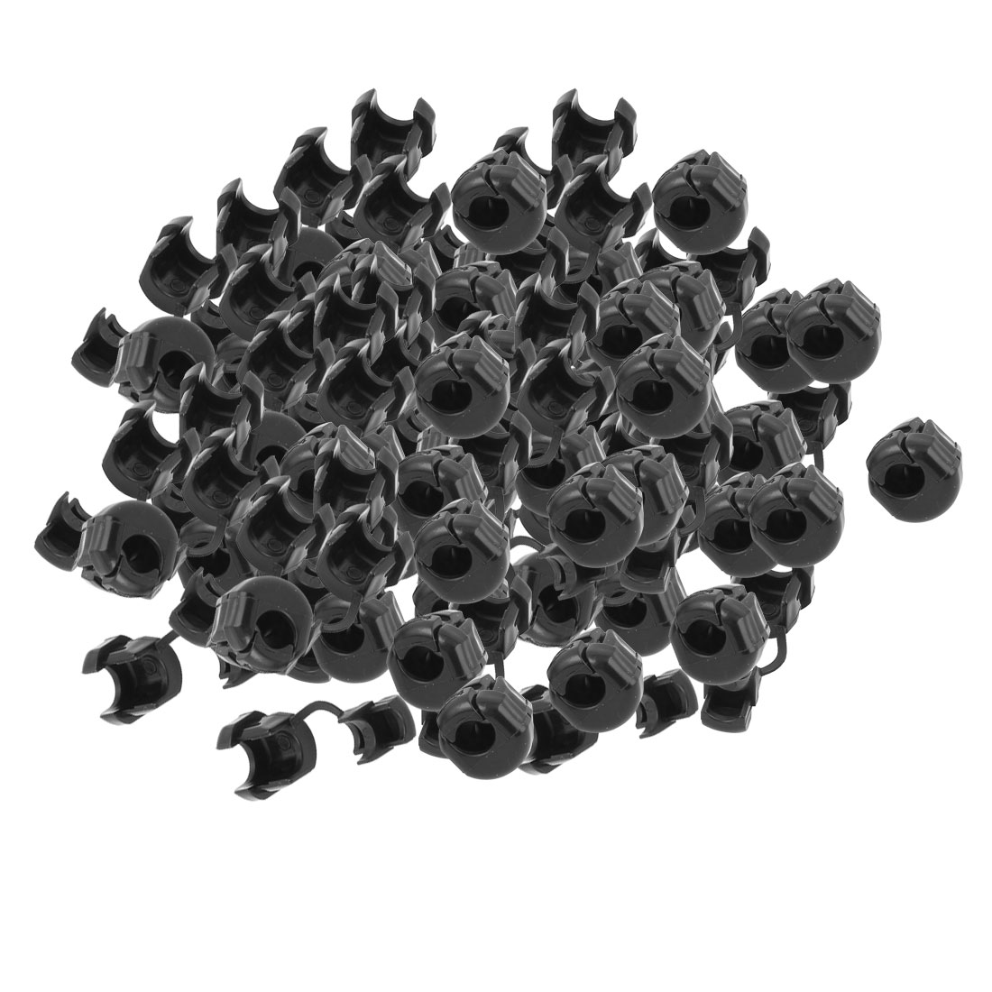 100Pcs HDB-6P-4 Round Cable Wire Strain Relief Bush Grommet 15mm Length
