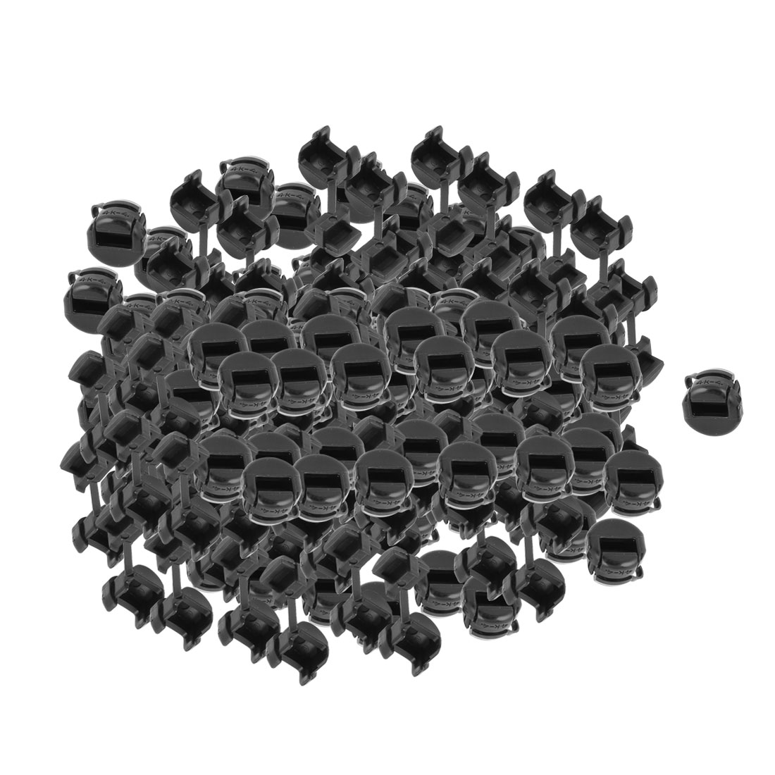 200Pcs HDB-4K-4 Round Cable Wire Strain Relief Bush Grommet 11mm Length