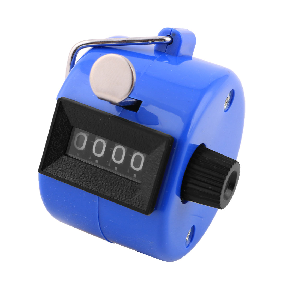 Office Desk Handheld 4 Digit Numbers Display Tally Click Counter Blue