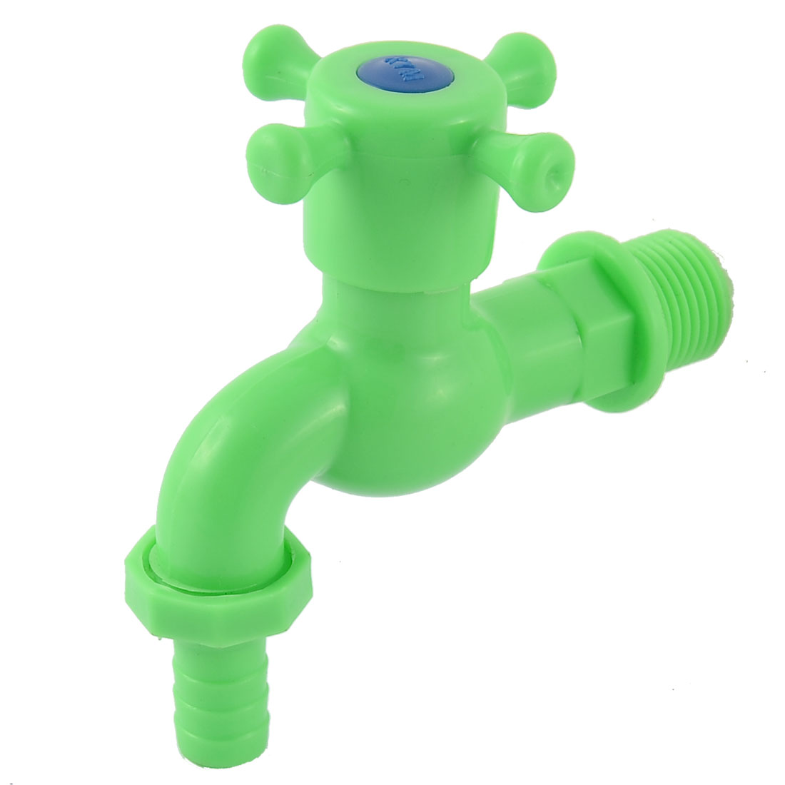 Kitchen Basin Sink 1/2 BSP Male Thread Dia Plastic Turn Handle Water Tap Faucet Green