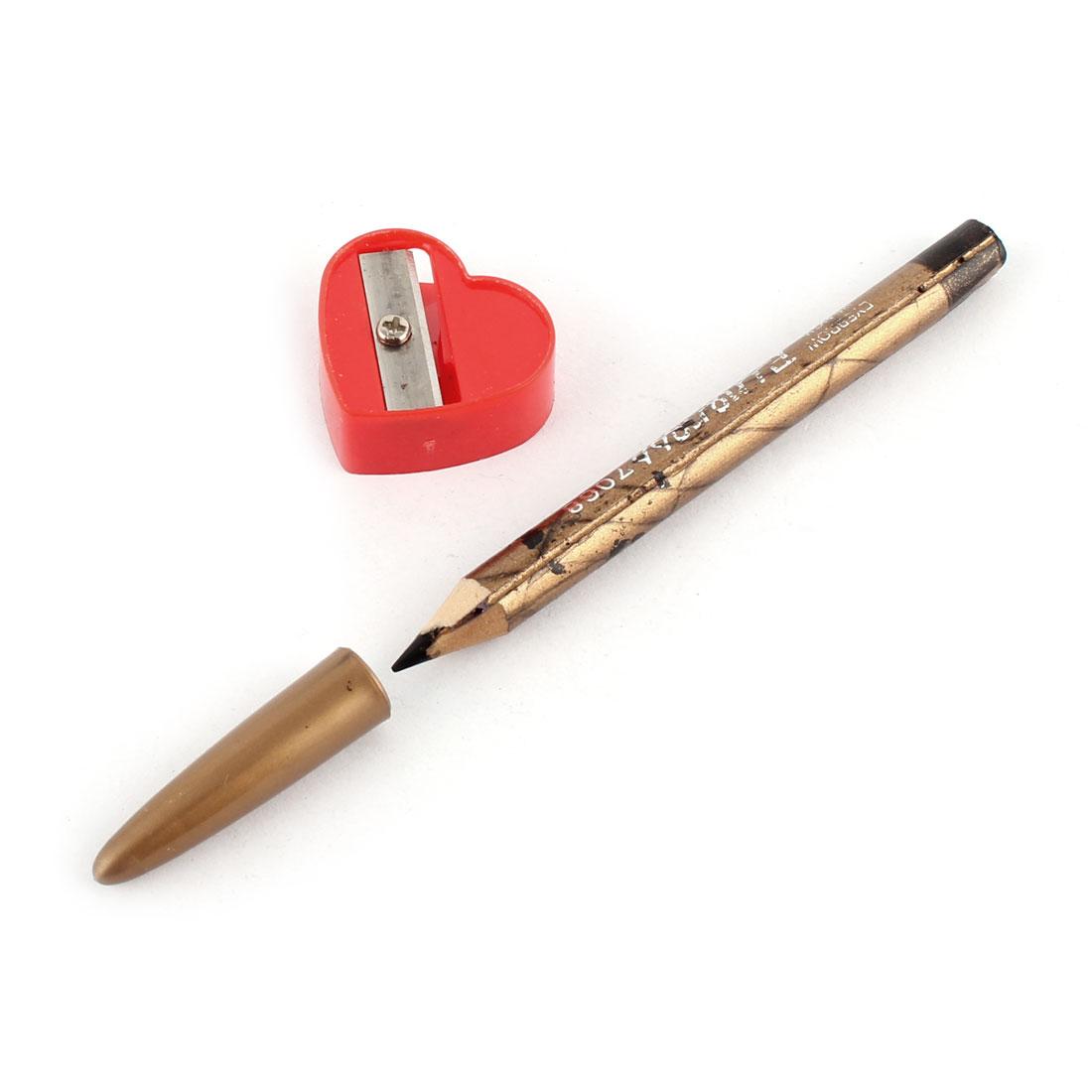 Black Nib Cosmetics Eyebrow Eyeliner Eye Lip Liner Pencil Sharpener Beauty Care Tool 2 in 1