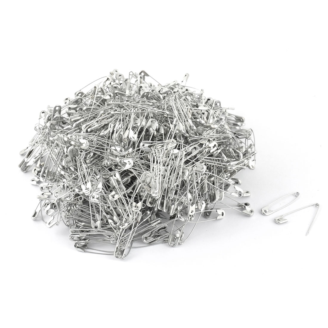 Metal Costume Sewing Dressmaking Craft Safety Pins Silver Tone 1000pcs