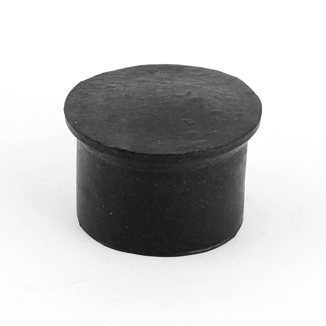 Rubber Round Furniture Chair Table Bottom Protector Feet Leg End Tip Black 50mm Inner Dia
