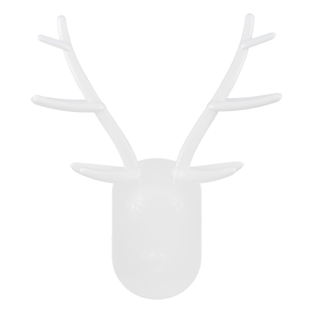 Plastic Reindeer Stag Head Shaped Wall Hanging Toothbrush Holder Container White