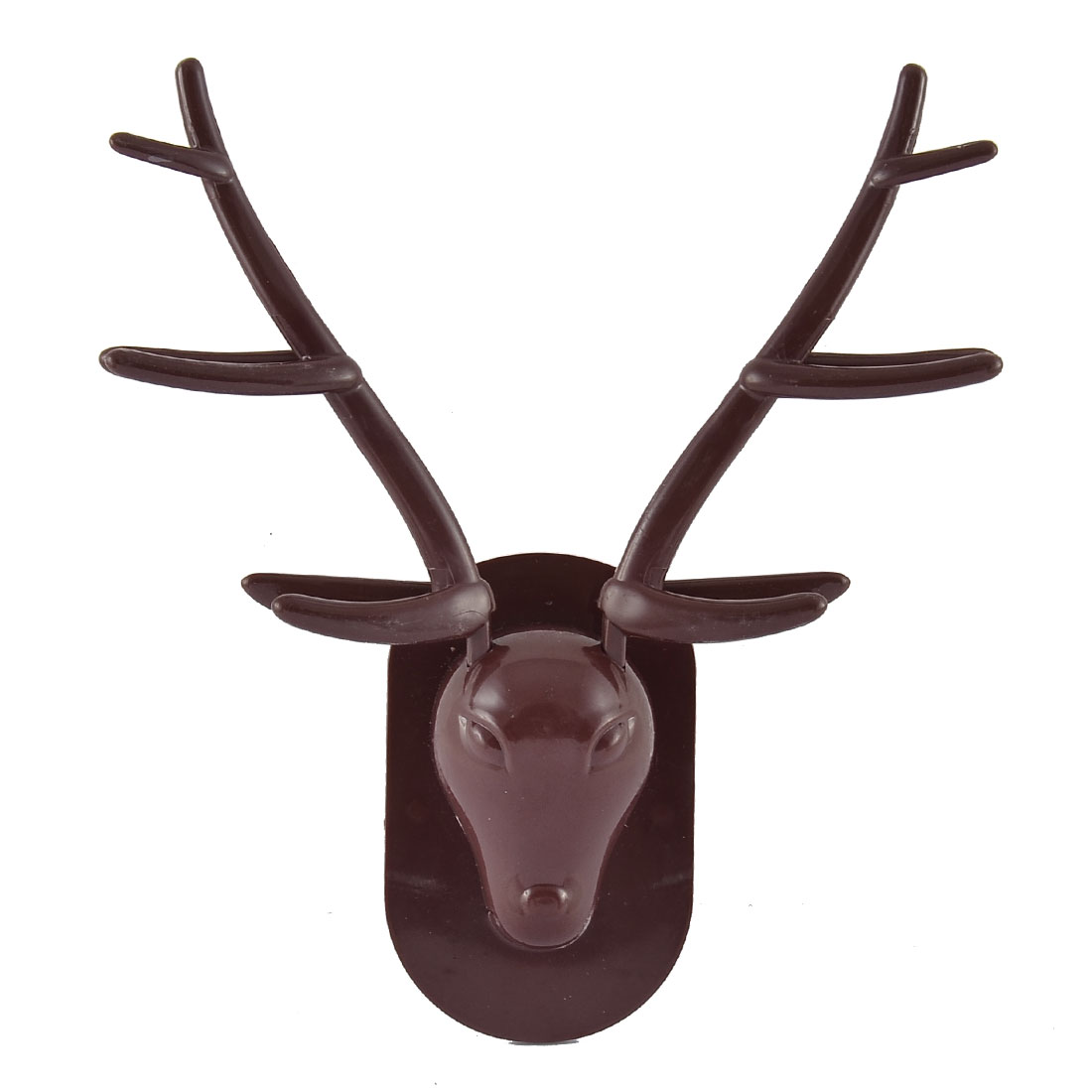 Plastic Reindeer Stag Head Shaped Wall Hanging Toothbrush Holder Container
