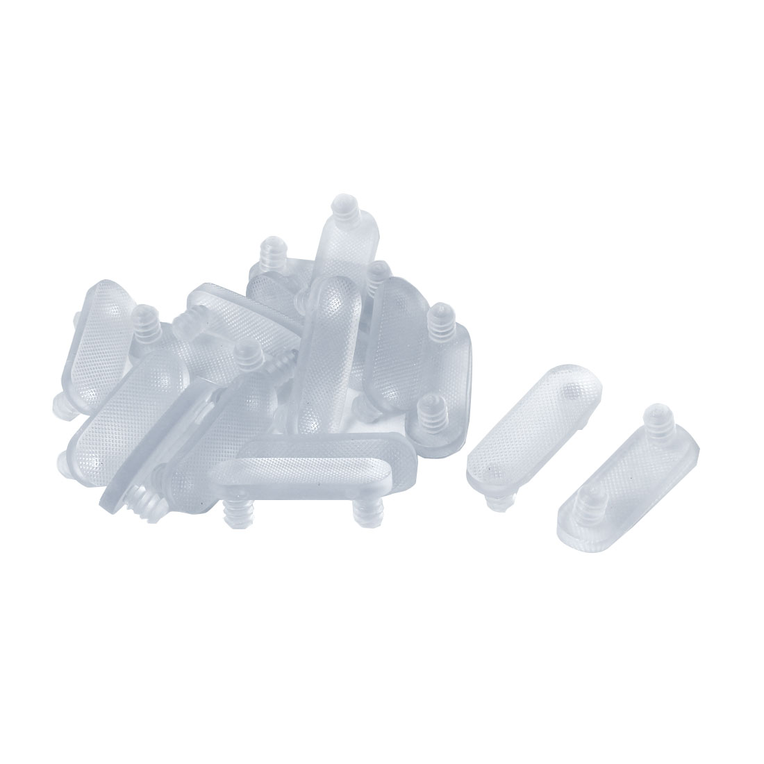 7mm x 10mm Screw in Type Rubber Furniture Protection Cushions Clear 16 Pcs