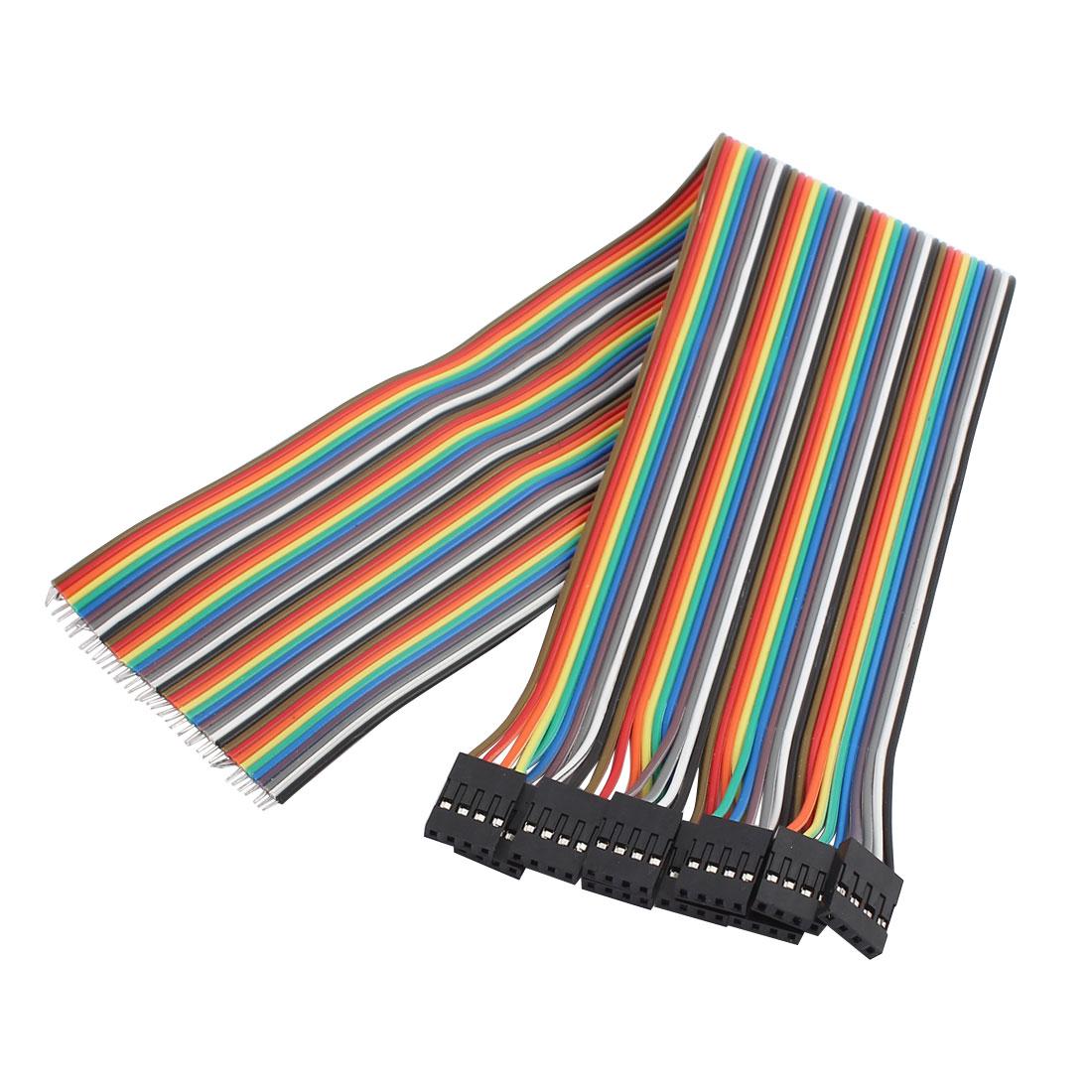 10Pcs 4P Jumper Wires Single Female Head Ribbon Cables Pi Pic Breadboard 30cm Long