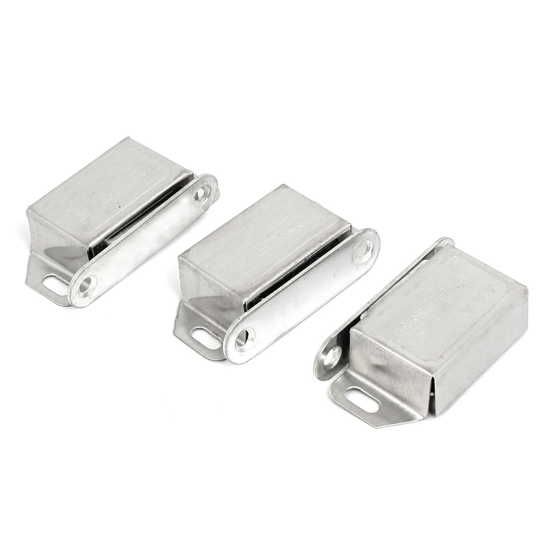 Cabinet Door Stainless Steel Shell Magnetic Catch Latch 54mmx26mmx14mm 3pcs