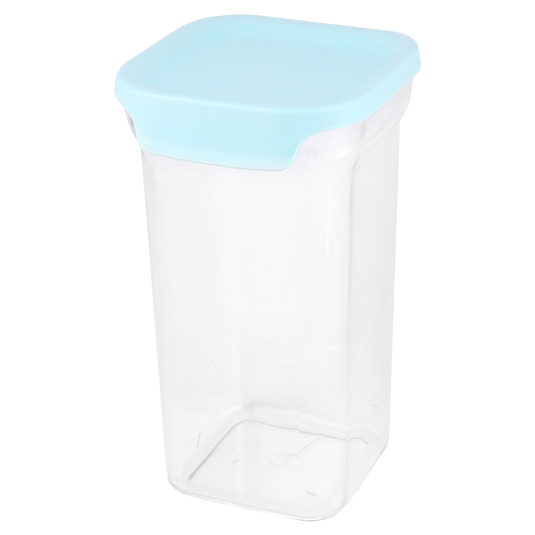 Kitchenware Plastic Airtight Food Cereals Dry Fruit Snacks Storage Box Organizer Blue Clear 1300ML
