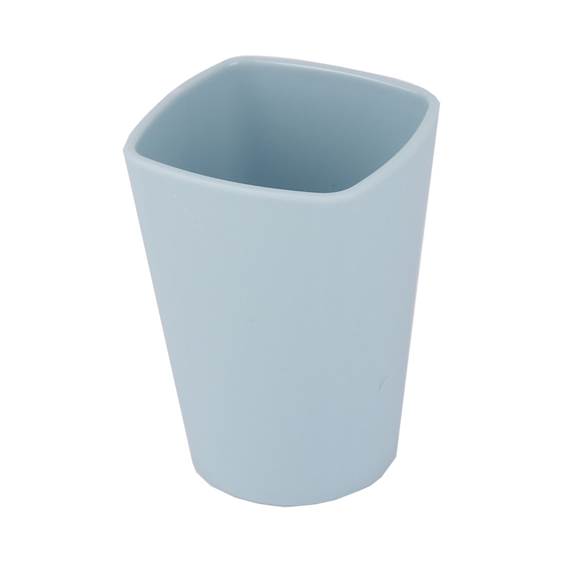 Household Bathroom Square Plastic Toothbrush Toothpaste Gargle Cup Pale Blue