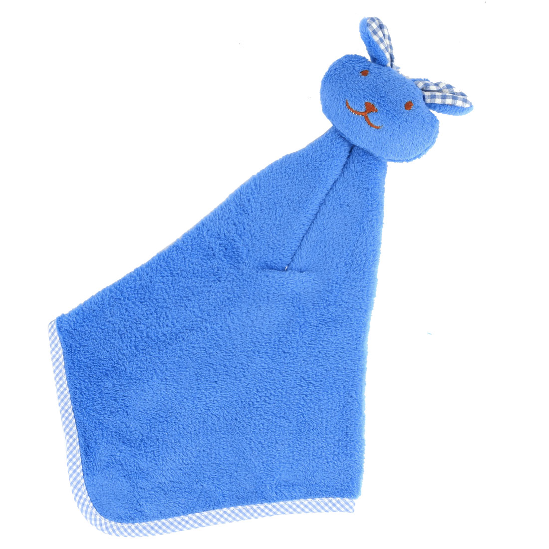 Dormitory Apartment Rabbit Design Terry Wall Water Sucking Hanging Hand Towel Blue