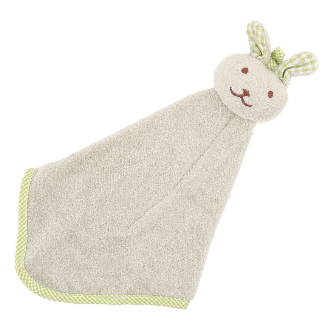 Household Kitchen Rabbit Design Terry Wall Hanging Cleaning Hand Drying Towel Light Green