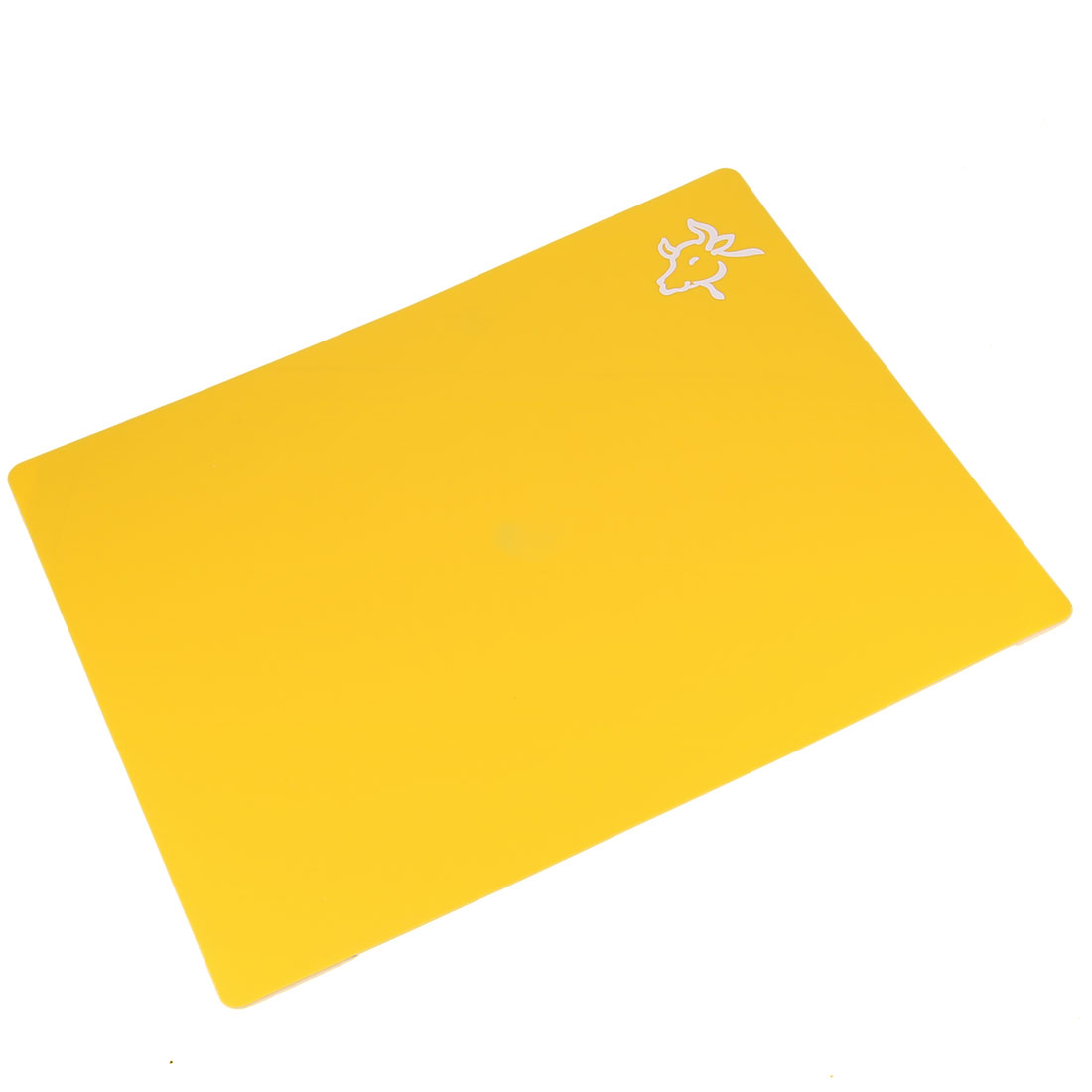 Kitchen Antislip Plastic Chesse Fruit Dessert Chopping Cutting Board Yellow