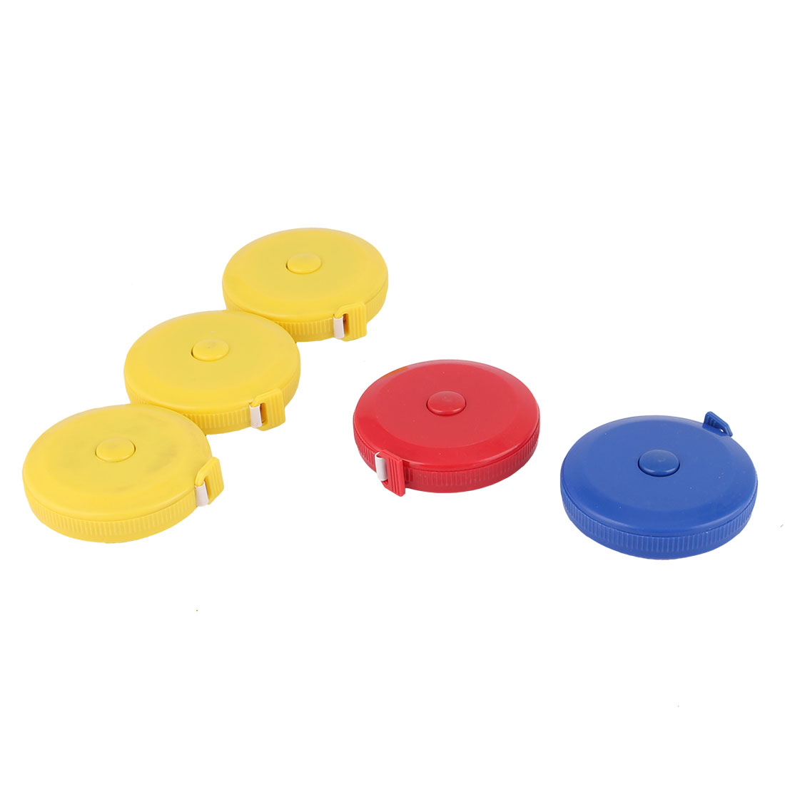 Tailor Engineer Plastic Shell Double Sided Press Button Retractable Tape Measure 150cm 60 Inch 5 PCS