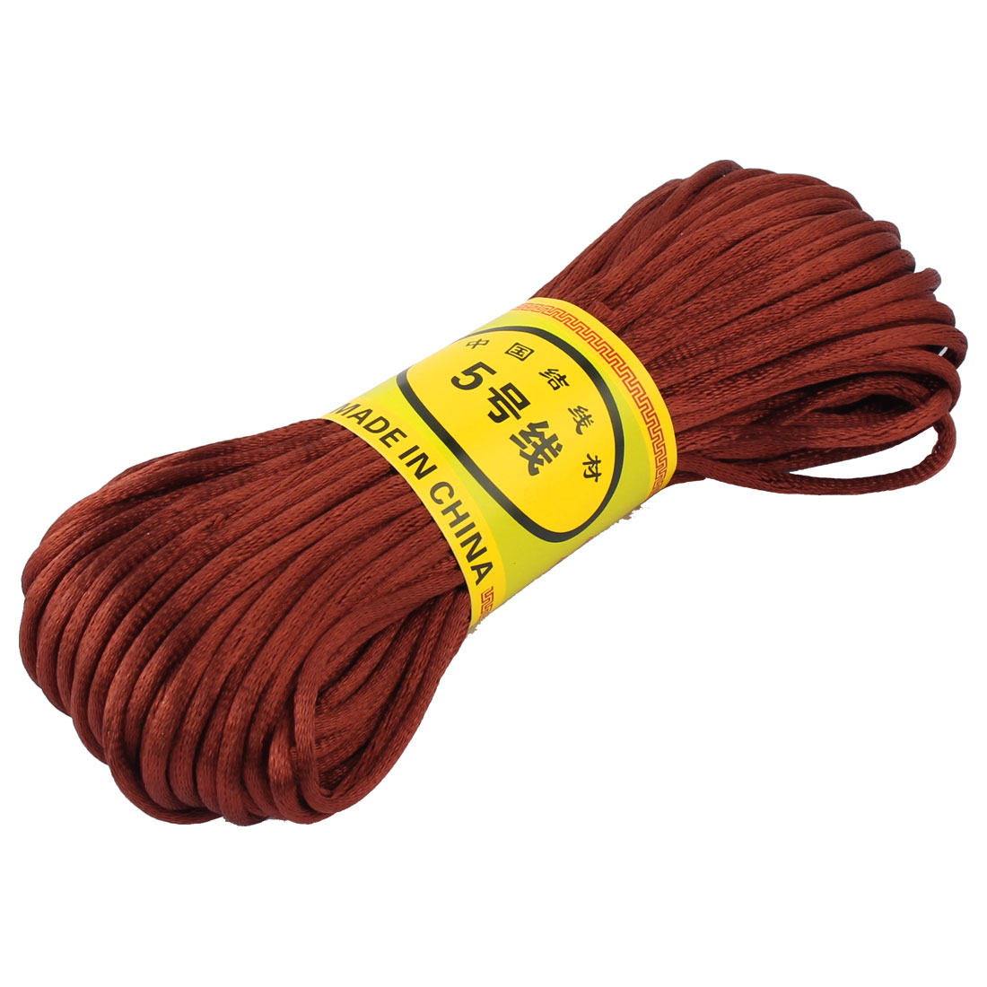 Coffee Color Nylon Cord Thread Chinese Knot Macrame Rattail Bracelet Braided String 20M