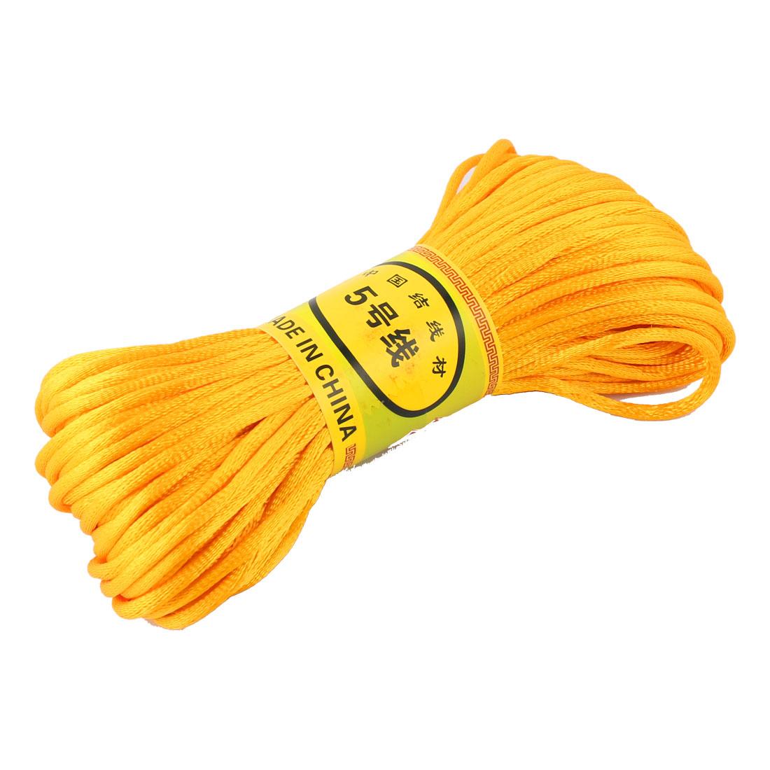 Orange Nylon Cord Thread DIY Chinese Knot Macrame Rattail Bracelet Braided String 20M