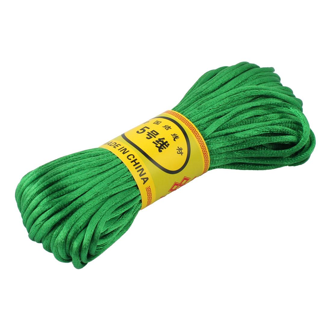 Green Nylon Cord Thread DIY Chinese Knot Macrame Rattail Bracelet Braided String 20M