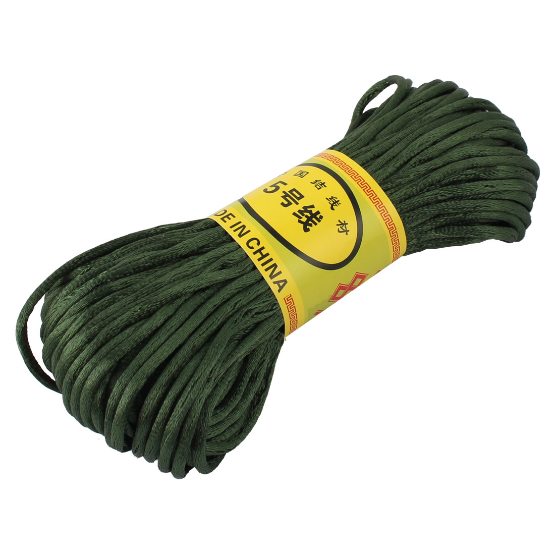 Dark Green Nylon Cord Thread Chinese Knot Macrame Rattail Bracelet Braided String 20M