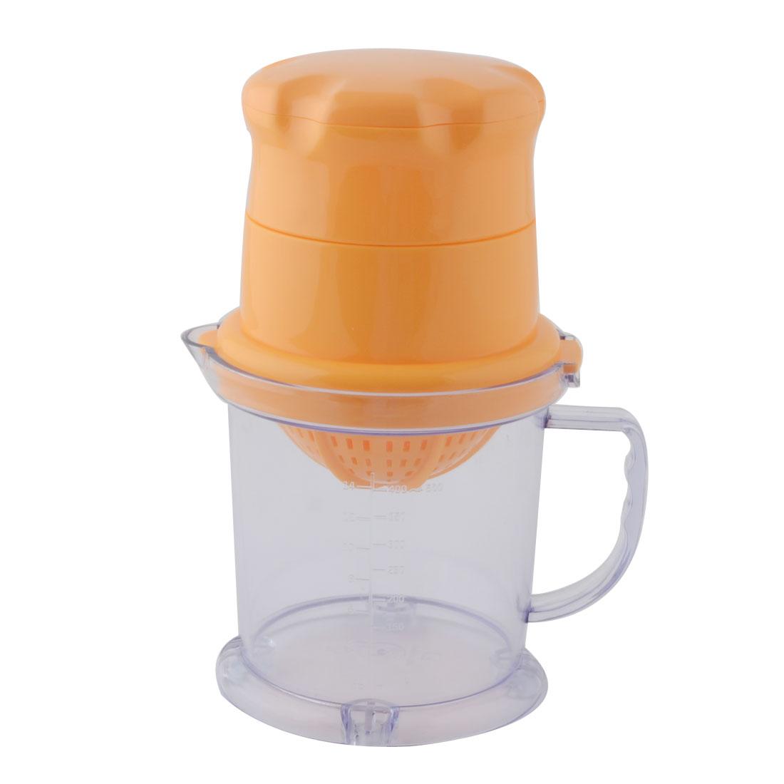 Kitchen Plastic Citrus Orange Lemon Fruit Manual Juicer Extractor Squeezer 450ml
