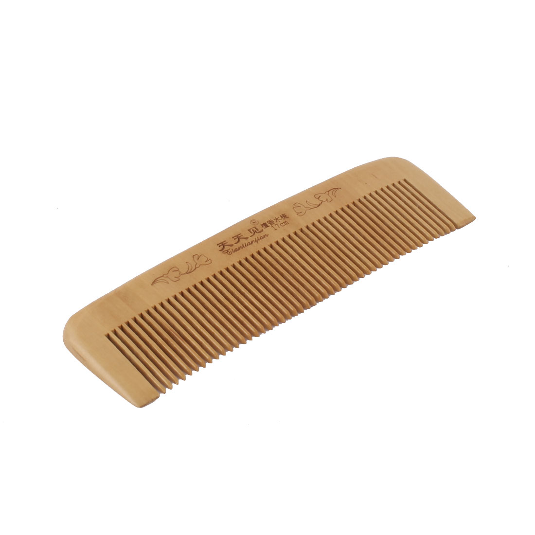 Wooden Chinese Style Portable Anti Static Hair Care Head Massage Comb 17cm x 5cm