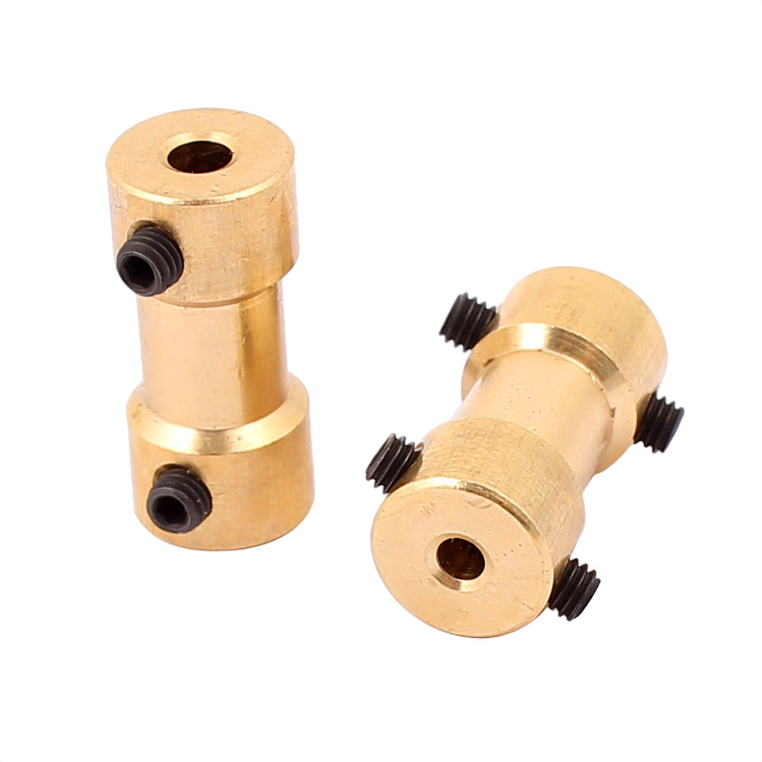 2Pcs 3mm to 2.3mm Copper DIY Motor Shaft Coupling Joint for Electric Car Toy