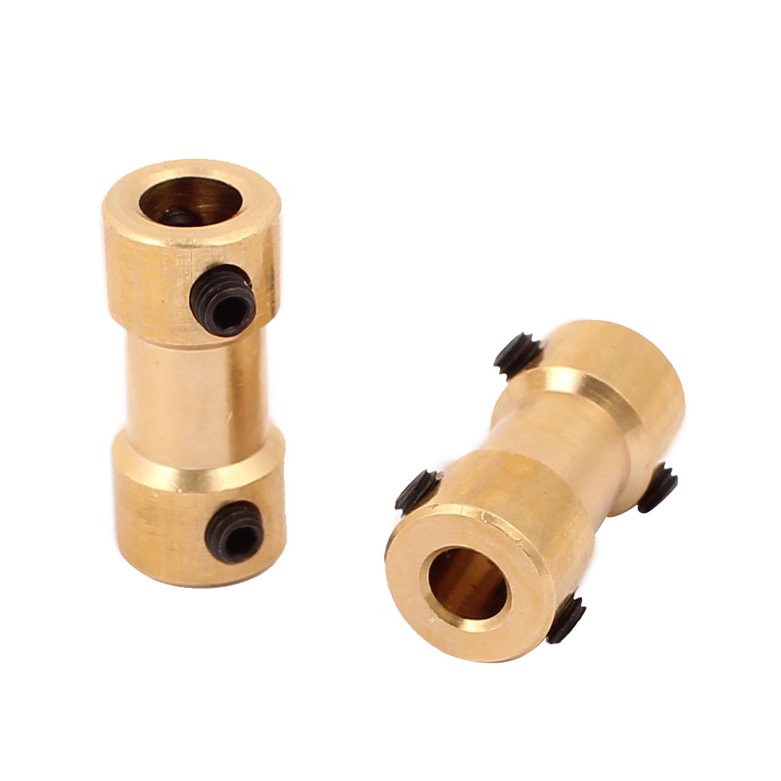 2Pcs 5mm to 4mm Copper DIY Motor Shaft Coupling Joint Connector for Electric Toy