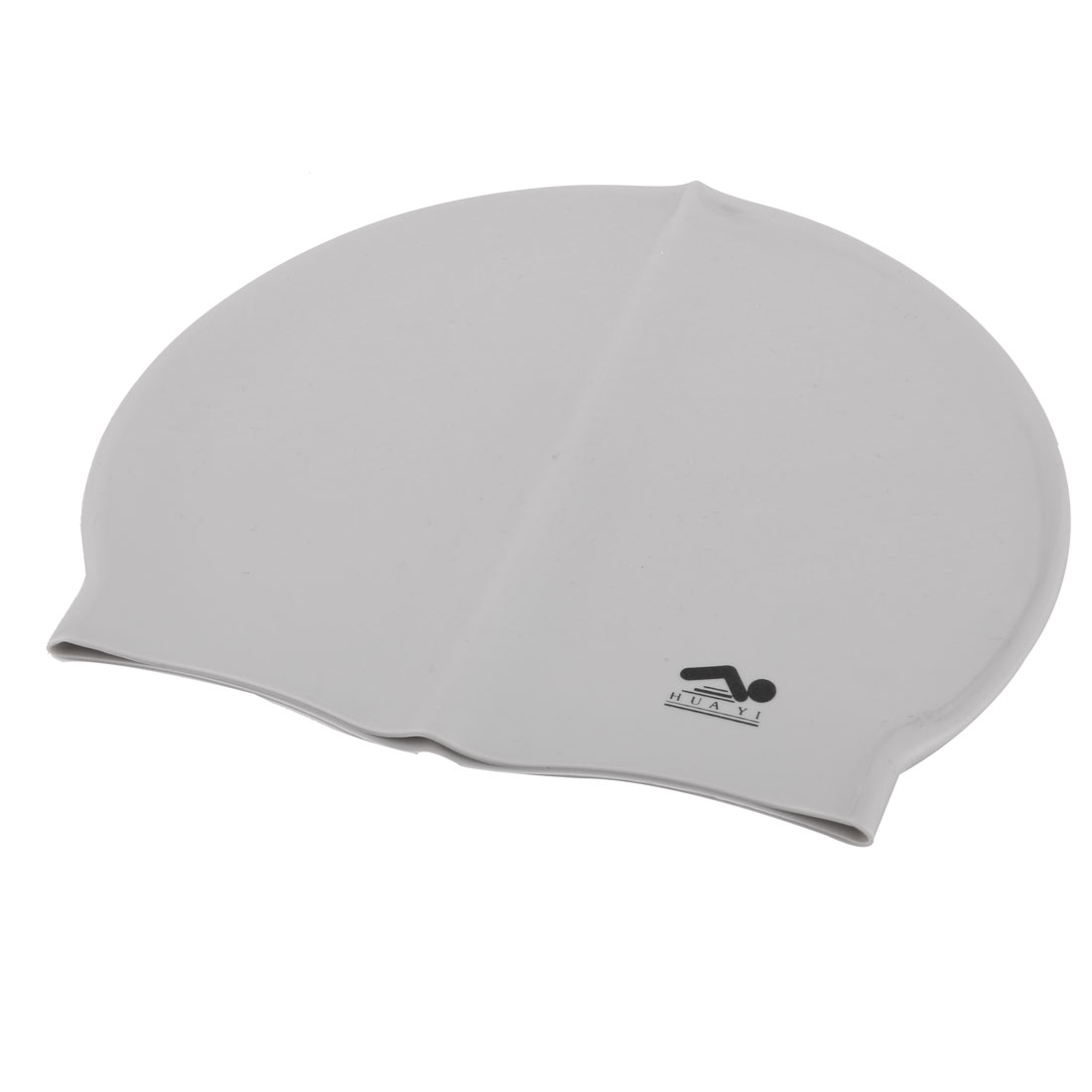 Adult Swimming Silicone Flexible Swim Cap Hat Hair Protection Cover Gray