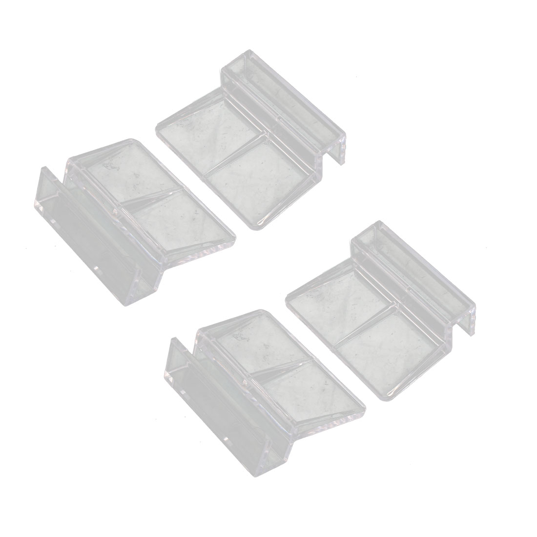 Plastic Shelf Clip Clamp Holder Support Bracket Clear 4pcs for 8mm Thick Glass