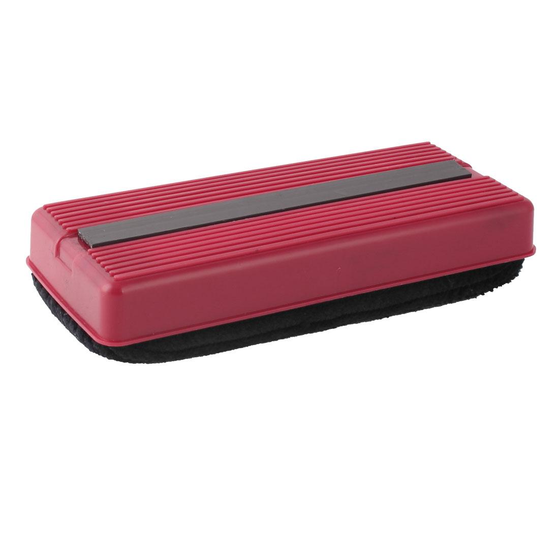 School Teaching Office Plastic Shell Magnetic Blackboard Eraser Red Black
