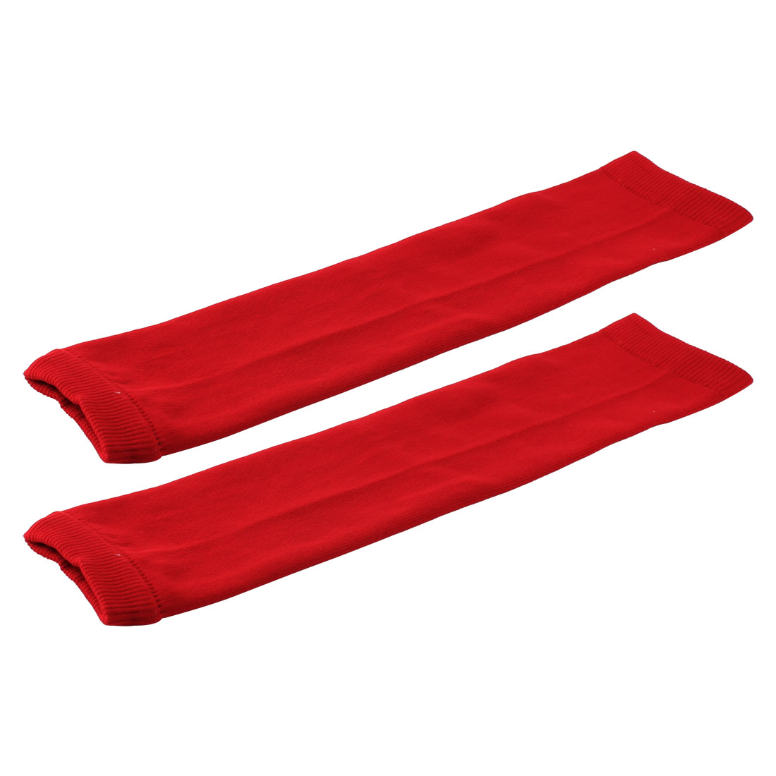 Sports Exercise Running Cotton Blends Muscle Arm Support Guard Red Pair