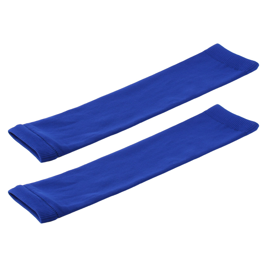 Sports Exercise Running Cotton Blends Muscle Arm Support Guard Blue Pair