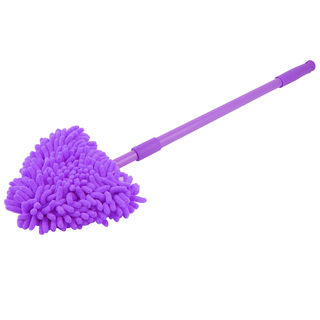 Plastic Handle Cotton Blends Top Home Stretchable Floor Cleaning Brush Purple