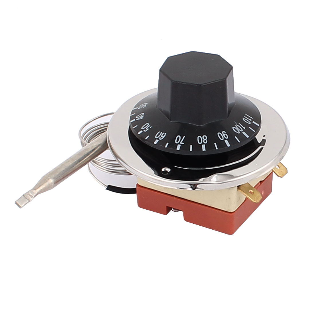 AC 250V 16A 30-110 Celsius NC Plastic Rotary Knob Adjustable Temperature Control Switch Thermostat