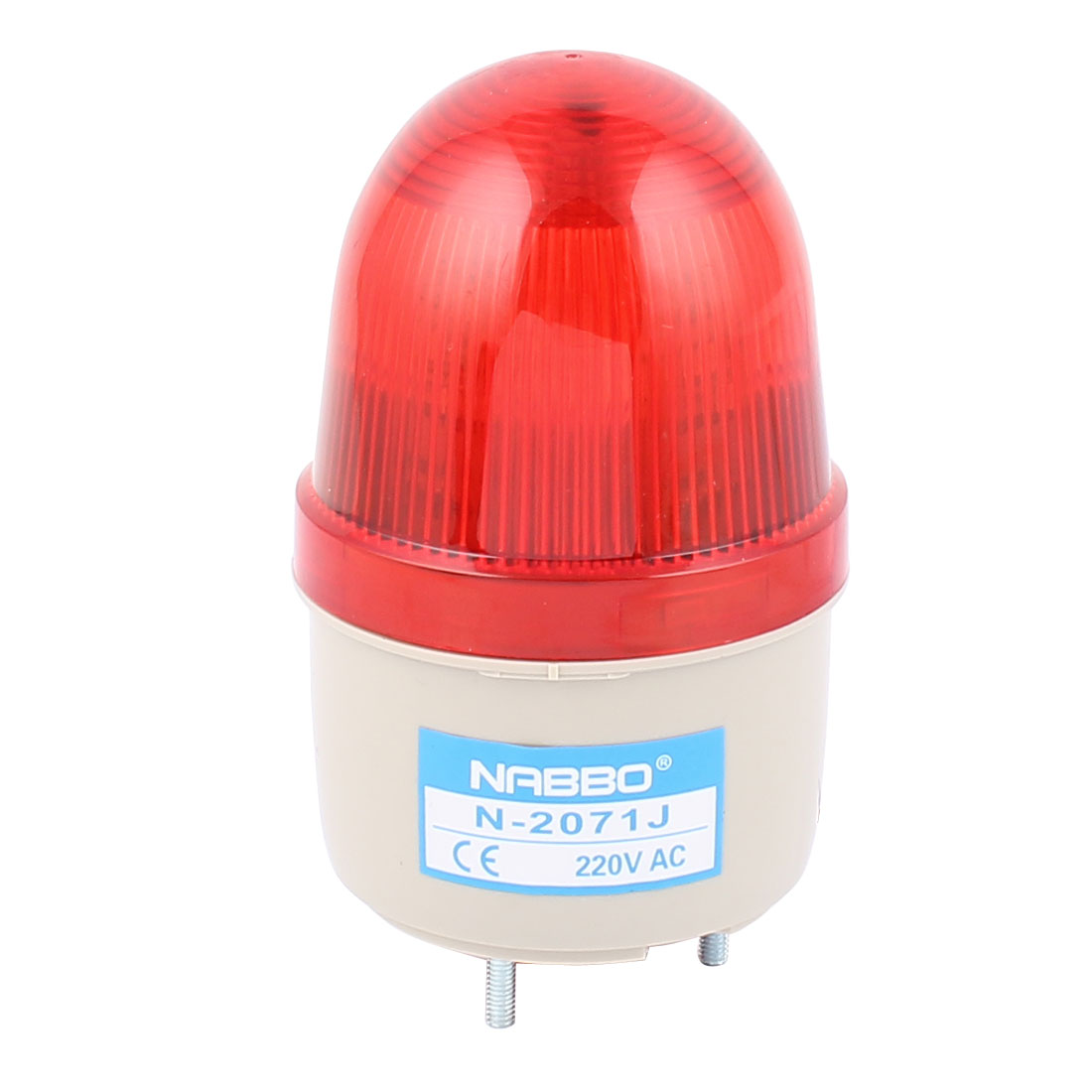 N-2071J AC 220V Buzzer Sound Industrial Safety Rotary Lamp Signal Warning Flashing Light Red