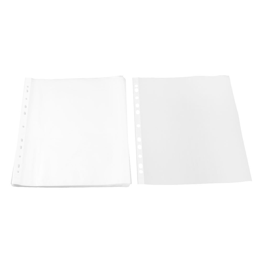 School Plastic Square Shaped File A4 Paper Storage Sheet Protector Clear 0.02cm Thickness 100pcs