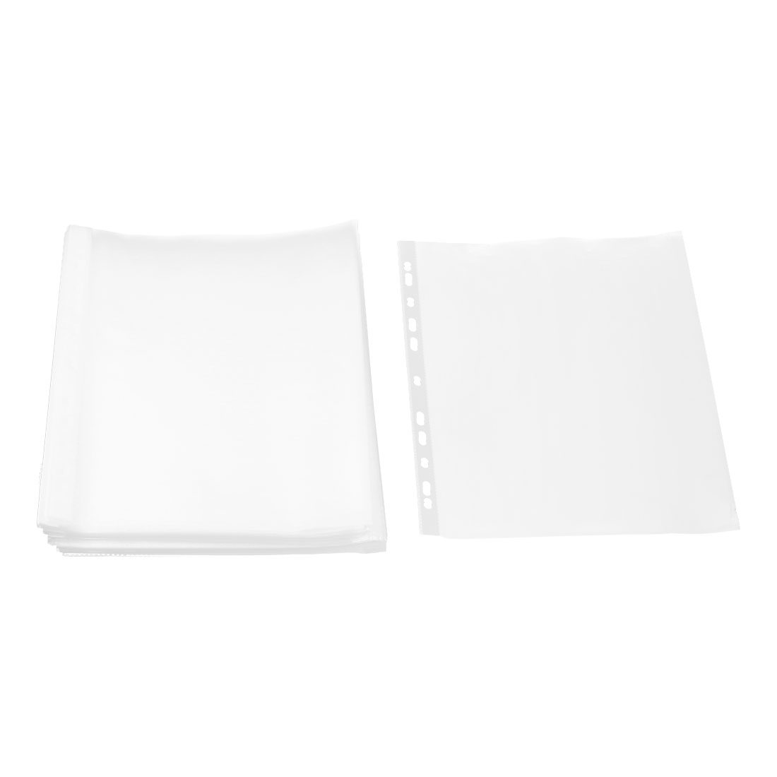 School Plastic Square Shaped File A4 Paper Storage Sheet Protector Clear 0.05cm Thickness 100pcs