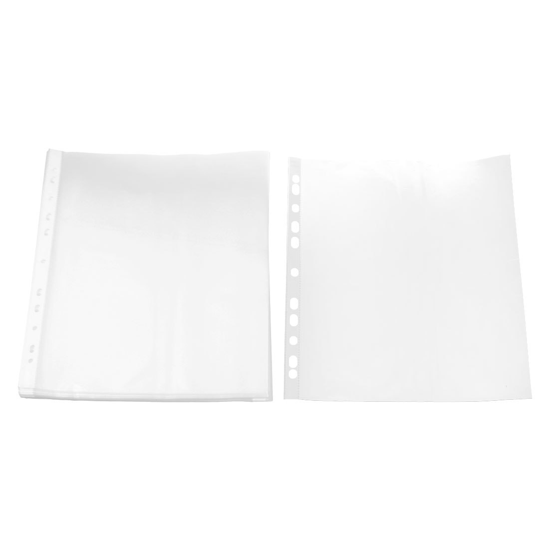 School Plastic Document A4 Paper Storage Binder Sheet Protector Cover Clear 0.06cm Thickness 50pcs